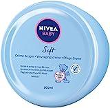 NIVEA BABY Soft Pflegecreme (200 ml), Hautcreme pflegt und schützt 24 Stunden lang, feuchtigkeitsspendende Creme für Babys mit Calendula