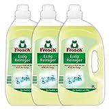 Frosch Essig Reiniger, Allzweckreiniger stark gegen Kalk, Wasserflecken und Seifenreste in Küche, Bad und WC, 3er Pack (3 x 5000 ml)