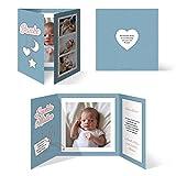 30 x Geburtskarten Babykarten Mädchen Junge Baby Danksagungskarten Dankeskarten individuell - Sonne Mond und Sterne