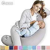 Sei Design Stillkissen Schwangerschaftskissen 170 x 30 cm, Füllung: schadstoffgeprüfte 3-D Faserbällchen Ökotex zertifiziert, Bezug mit Reißverschluss, Ideal für unterwegs