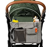 Kinderwagen Organizer mit Wickelauflage - Buggy-/Kinderwagen-Mittelgroß Wickeltasche, Windelunterlage, gepolstertem Schultergurt – Wickeltasche lässig von Tedibee