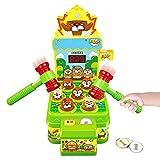 Gimsan Whack Spiel, Schlag den Maulwurf, Elektronisches Mini Arcade Spielzeug, Münzspiel mit 2...