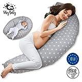 Stillkissen stillmond Schwangerschaftskissen Lagerungskissen - pregnancy pillow Kissen Schwangerschaft zum schlafen seitenschläferkissen Grau xxl