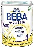 Nestlé BEBA EXPERT HA 1 Hydrolysierte Anfangsnahrung für Babys mit erhöhtem Allergie-Risiko, Baby-Milchpulver von Geburt an, 1er Pack (1 x 800g)