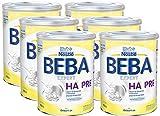 Nestlé BEBA EXPERT HA PRE Hydrolysierte Anfangsnahrung, Säuglingsnahrung von Geburt an, 6er Pack (6 x 800 g)