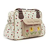 Pink Lining Wickeltasche mit Schmetterlingen (Marineblau)