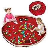 Kinder Aufräumsack, Spieldecke Spielzeug Speicher Tasche Aufbewahrung Beutel, Großes Baumwoll Segeltuch Spielzeugaufbewahrung XL- Schnellere Aufräumung (150cm)