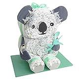 Windeltorte.com – Koala   Windeltorte in Grün - inkl. 26 LILLYDOO Windeln   Geschenk zur Geburt   Taufgeschenk   Geschenk zur Babyparty – handgefertigt