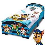 PAW Patrol Bett 140 x 70 cm | Kinderbett für Jungen und Mädchen ab 2 Jahren | Juniorbett mit...