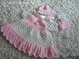 Strickanleitung – KP192 - Babykleid, Mütze und Schühchen