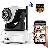 Sricam SP017 WiFi-Überwachungskamera, 1080P, kabellos, IP-Kamera, drehbare Objektive, 2-Wege-Audio, Infrarot-Nachtmodus, kompatibel mit iOS Android PC