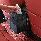 Winzwon Auto Mülleimer, IP68 Wasserdicht Abfalltasche, Faltbar Abfalltasche Auto Tasche mit Deckel, Zusammenfaltbare Organizer Abfall-Tasche für Unterwegs