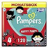 Pampers Größe 4 Baby Dry Windeln Pants, 120 Stück, MONATSBOX, Für Atmungsaktive Trockenheit (9-15kg)