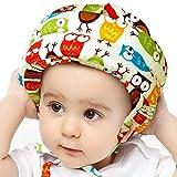 IULONEE Baby Helm Kopfschutz Kleinkind Schutzhut Baumwolle Verstellbarer Sicherheitshelm(Eule Gelb)
