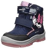 Geox Baby-Mädchen B Flanfil Girl B ABX Snow Boot, Blau (Navy), 21 EU