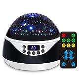Ohiyoo Sternenhimmel Projektor Lampe, Musik Nachtlicht Lampe 360°Rotation 12 Beruhigende Musik 8...