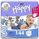 bella baby Happy Windeln für Babys Gr. 3, 5-9 kg, im Monatspack mit perfekter Passform und...