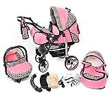 You and Baby SPORTIV-X2 Kombi-Kinderwagen 3in1 | mit Zubehör | für Kinder ab der Geburt bis 3 Jahre | Gewicht 13 kg | Faltmaß mit Rädern B99 x T60 x H72