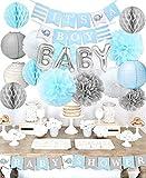 Baby Shower Dekorationen für Jungen'It's A Boy' Baby-Party mit Folienballon'Baby' Baby Blue...