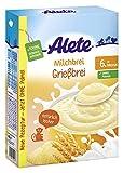 Alete Milchbrei Grießbrei, ohne Palmöl, ab dem 6. Monat, 1er Pack (1 x 400g)