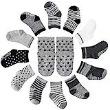FUTURE FOUNDER 12er-pack Baby ABS Socken, Anti Rutsch Socken für 12-36 Monate Baby Mädchen und...