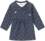 Noppies Baby-Mädchen G Dress ls Nevada-67364 Kleid, Blau (Navy C166), 62