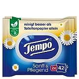 Tempo Toilettenpapier feucht Sanft und Pflegend Duo-Pack, 84 Tücher
