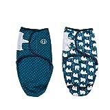 Baby Pucksack Wickel-Decke - 2er Pack Universal Verstellbare Schlafsack Decke für Säuglinge Babys...