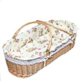 GOUO@ Baby Moses Korb Wicker Baby Korb Out-of-Car Tragbare Baby Korb Bett Neugeborenen Baby Korb...