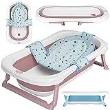 faltbare Babywanne mit 50 Litern Volumen von BEARTOP | inkl. Badewanneneinsatz Baby | ergonomisch &...