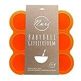 Nuri BPA-freie Gefrierform zum Einfrieren und Aufbewahren von Babynahrung/Babybrei (Orange)