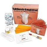 XXL-Komplettset   Babybauch Gipsabdruck-Set inkl. Glättung & Veredelung   1A Ergebnis mit...