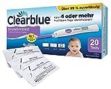 Clearblue Ovulationstest Fortschrittlich & Digital, 20 Tests, 1er Pack (1 x 20 Stück) plus 5 OneStep Schwangerschaftstests 10 miu