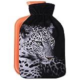 Wärmflasche mit Motiv 2 Liter, Wärmekissen mit abnehmbaren Flauschigen Bezug in vielen Variationen...