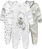 Kiddiezoom Baby Jungen Pyjama, eng-anliegend mit integrierten Schuhen, langarm, Baumwolle Gr. 50,...