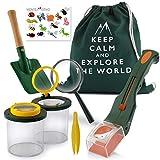 Monte Stivo® Entdecker-Set für Kinder | Insektenfänger Becher-Lupe Turnbeutel | Outdoor-Spielzeug...