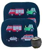 HECKBO 2x Selbsthaftende Auto Sonnenblende - Sonnenschutz für Kinder [2 Stück] (ohne Saugnäpfe) |...