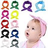 Fascigirl Baby Stirnband, 12 Stück Baby Stirnbänder Kopfband Babyschmuck Mädchen Bogen Headwrap Elastisches Kaninchen Ohr Haarband für Newborn Fotoshooting Requisiten Baby Decke