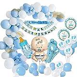 MMTX Baby Shower Dekoratione Jungen, Baby Dusche Party Deko Blau Mama, Schärpe, Baby-Dusche-Banner,...