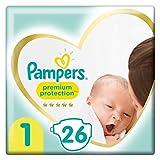 Pampers Größe 1 Premium Protection Baby Windeln, 26 Stück, Tragepack, Weichster Komfort Und...
