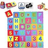KIDUKU® 86 teilige Puzzlematte TÜV Rheinland geprüft - Kinderspielteppich, Spielmatte,...