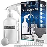 Medi Grade Ohr Reinigung - 16-in-1 Ohrenschmalz Entferner 500 ml - Sichere Pumpe zum Ohrenschmalz Entfernen - Umweltfreundliches Ohrreinigungs - Set - Verbessert das Hören