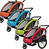 Veelar Sports 2 in 1 Kinderanhänger Fahrradanhänger Anhänger mit Buggy Set Jogger BT502-D04...