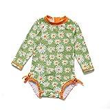 Soui Baby Mädchen EIN stück Langärmelige-Kleidung UV-Schutz 50+ Badeanzug MIT Einem...