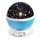 Sternenhimmel Projektor InnooTech Sternen Nachtlicht 360 Grad drehbaren Rotierender Projektor LED...