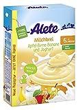 Alete Milchbrei Apfel-Birne-Banane und Joghurt, ohne Palmöl, ab dem 6. Monat, 1er Pack (1 x 400g)