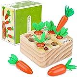 Montessori Holzpuzzle Sortieren Karottenernte Lernspielzeug Baby Motor Skills Spiel Happy Farm...