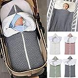 Ponacat Neugeborenen-Babyschlafsack 2-In-1-Wickeldecke mit Durchgehendem Reißverschluss Kleinkind...