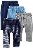 Simple Joys by Carter's 4-pack Pant Unterhose Navy/Stripes/Gray 6 - 9 Months , 1 er-Pack