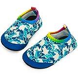 Yorgou Baby Strandschuhe Schwimmschuhe Badeschuhe Wasserschuhe Schnelltrocknende Aquaschuhe rutschfest Barfuss Schuh für Kinder Beach Pool, Geometrie / Blau, 17/18 EU